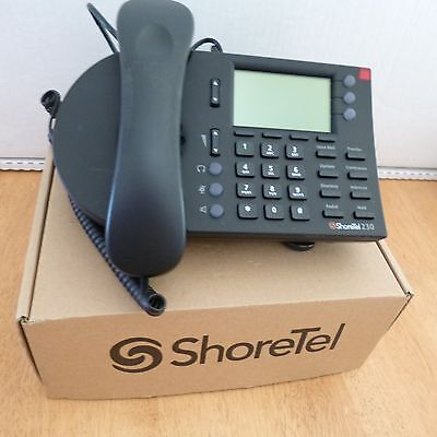 ShoreTel IP 230 Black Programmable Office LCD - New In The Box!