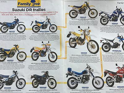 Suzuki Dr Trailies 125 / 650 - Original 2 Page Dr Family Tree Motorcycle Article