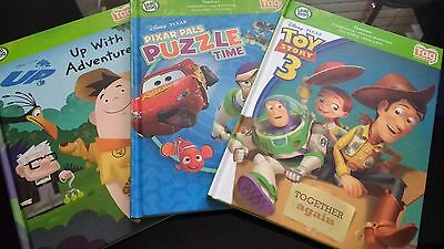 Tag Reader Reading System 3 Books Leapfrog Toy Story / Pixar Pals / UP