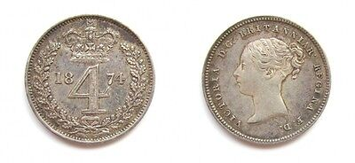 Victoria 1874 Silver Maundy Fourpence