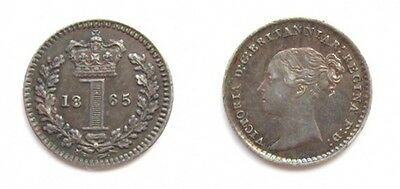 Victoria 1865 Silver Maundy Penny
