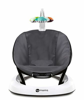 4moms bounceRoo Bouncer Single Seat Plush Classic Grey Baby Infant Newborn