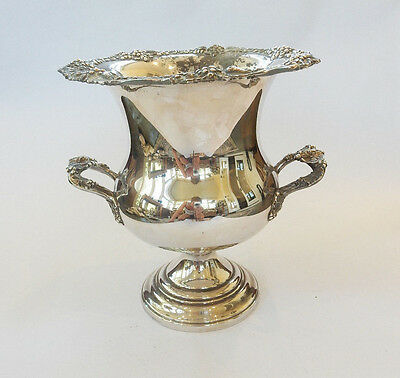 Antique Ornamental English Silver Plated Drinks Wine Cooler Champagne Bucket Urn