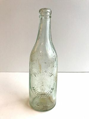 Pabst Milwaukee Tappered Blob Top Clear Pint Beer Bottle Wisconsin Beer Blob Top