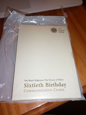 2008 HRH Prince of Wales 60th birthday £5 Crown in presentation pack