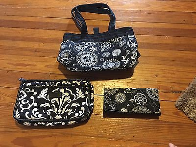 Thirty One Purse, Organizer, And Wallet - Black And White