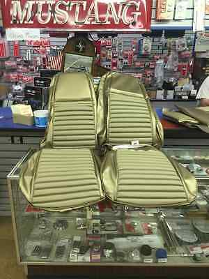 1969-1970 Ford Mustang high back seat upholstery Mach1 Nugget gold