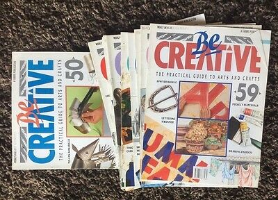 Vintage BE CREATIVE magazines Issues 50-59 covers most arts & crafts