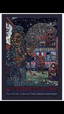 Widespread Panic Poster Welker Coney Island Brooklyn NY