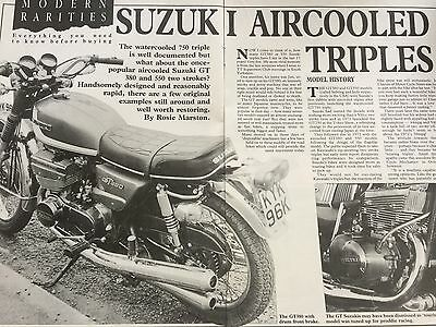 Suzuki Gt 380 / Gt 550 Triples - Original 6 Page B/w Motorcycle Article