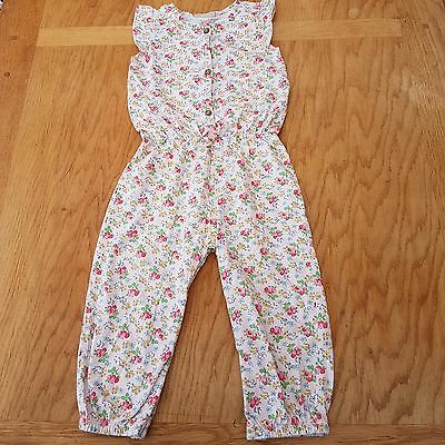 NEXT Girl's Pink Floral Jumpsuit Size 18 - 24 Months