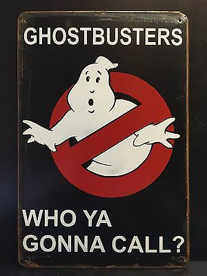GHOSTBUSTERS Who Ya Gonna Call? Classic Movie Poster Small Metal Sign 20x30 Cm
