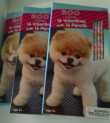 Boo World Cutest Dog 48 Valentines Day Cards with 48 Pencils LOT