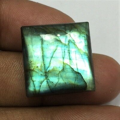 32.4 Cts 100% Natural Labradorite Gemstones Green Fire Quality Cabochon N#323-33