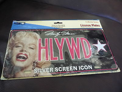 MARILYN MONROE Hollywood Silver Screen ICON License Plate SEALED