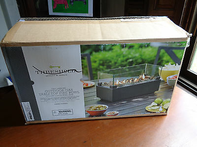 """Threshold Two Harbors Outdoor Gas Tabletop Fire Bowl 15"""""""