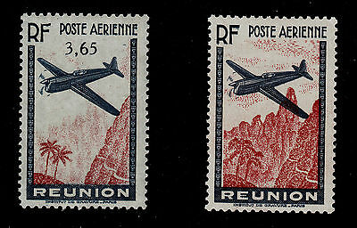 REUNION C2 Error with 3.65 Value Omitted 1938 Mint Lightly Hinged