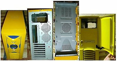 CASE PC DESKTOP MIDDLE TOWER ATX TechSolo TC-72 Giallo - SENZA ALIMENTATORE