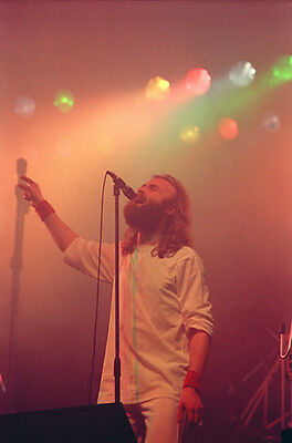 "12""*8"" concert photo of Phil Collins of Genesis playing at Liverpool in 1977"