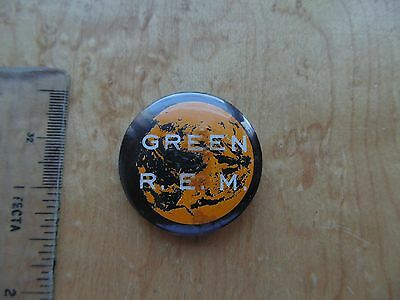 Vintage R.e.m. Green Pin Badge.
