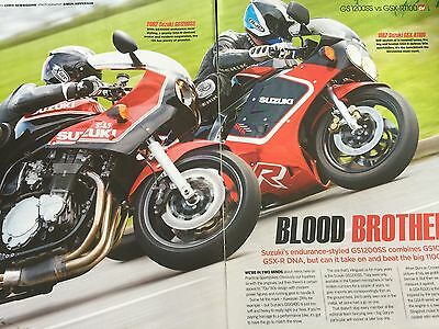 SUZUKI GS1200SS 2002 vs GSX-R1100 - ORIGINAL 11 PAGE COLOUR MOTORCYCLE ARTICLE