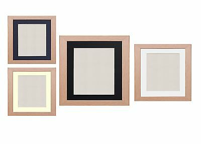 Oak Photo Frame Picture Poster Frames With Mounts Black White Ivory Blue