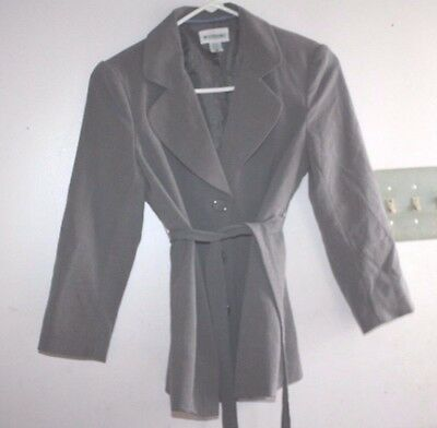 Motherhood Maternity Jacket size S Suit Coat Gray with belt   -KK