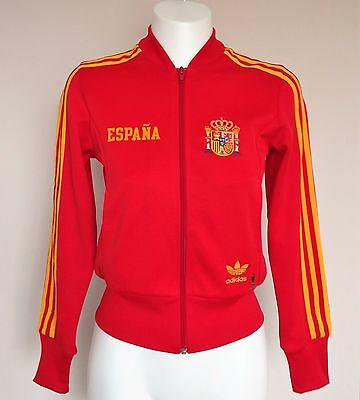 Spain Fifa World Cup Retro Jacket By Adidas Ladies Size 10 Brand New