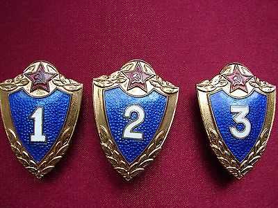 Full Set of Russian Badge Pin Soviet Army Excellent Soldier 1 2 3 Class