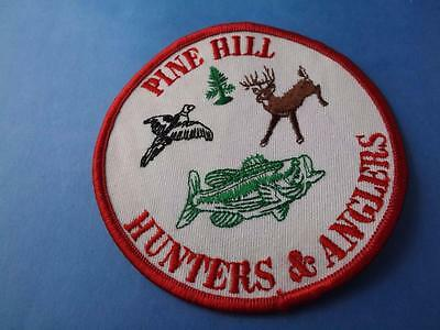 Pine Hill Hunters & Anglers  Patch Hunting Fishing Club Deer Vintage Collector