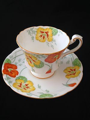 Royal Paragon cup and saucer in Nasturtium pattern a.f