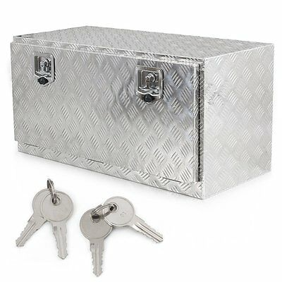 "36"" Aluminum Underbody Underbed Tool Box Storage with T-Handle Latch/ Keys"