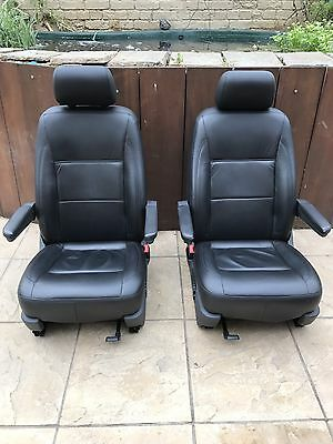 Vw T5 T5.1 Gp Heated Leather Captains Seats