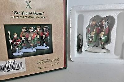 Dept 56 Ten Pipers Piping Figurine #58386
