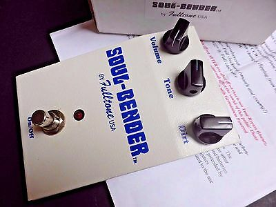 Fulltone Soul-Bender Effects Pedal Rare Original Big Box 3 x NKT275's
