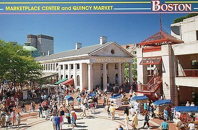 Old Postcard: QUINCY MARKET, Boston,United States.