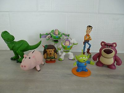 Toy Story Eight Figures Rare Mr Prickles Buzz Lotso Alien Woody Ham And Rex