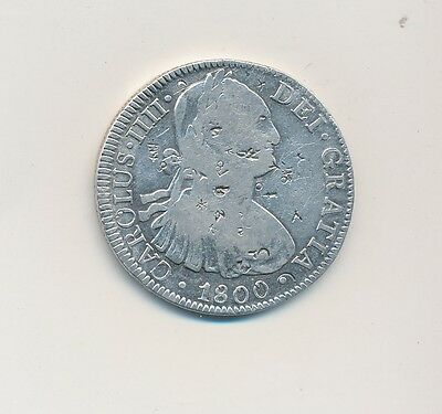 1800 Silver Mexico 8 Reales-Chopmarked-Very Nice Coin-Ships Free!
