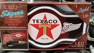 Texaco LED (NEON LOOK) light up sign