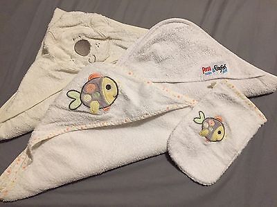 3 x Baby Hooded Baby Towels