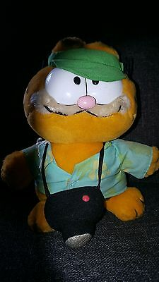 Vintage Garfield Soft Toy Tourist Camera Holiday Collectable 10 Inch 1981