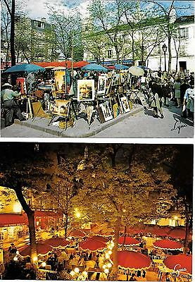 Paris, Montmartre,coloured Postcards.