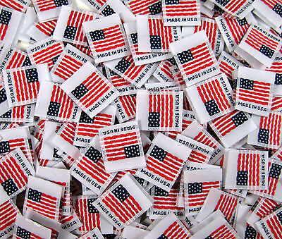 f4d56ddec1a7 1000 PCS WOVEN CLOTHING LABELS BLACK MADE IN USA -SIZE TAGS XS, S, M ...