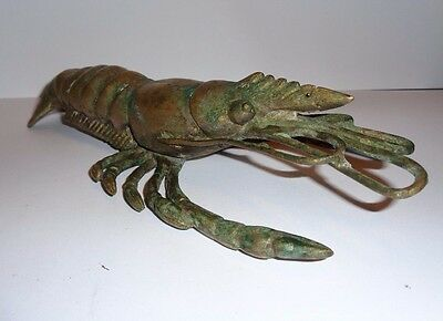 Old Solid Brass Loaster/crayfish