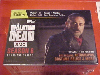 2017 TOPPS THE WALKING DEAD SEASON 6 Walmart BLASTER Relic or Auto! Negan??