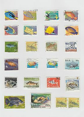 Thematic stamps - Fish images