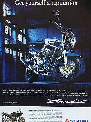 Suzuki Gsf600 Bandit - Original A4 Colour Motorcycle Advert