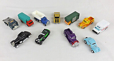 Lot of 11 Vintage Die Cast Vehicles Racing Champions Hot Wheels Lesney Car Truck