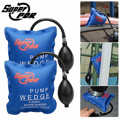 2x Square Air Wedge Pump Up Inflatable Shim Air Bag Cushioned Hand Home Tools