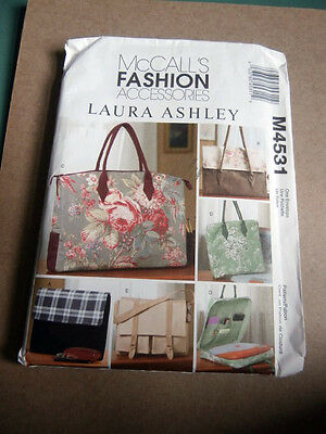Oop McCalls 4531 Laura Ashley Fashion Accessories Business Bags NEW